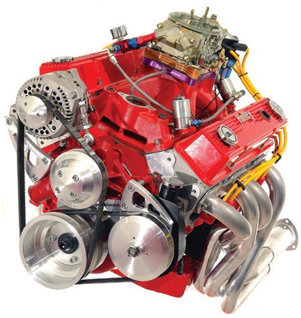 Fig. 6.1. The ability to port your own heads and manifolds to a professional level puts you in a position of building significantly higher output engines for very little extra cost. A first-time porting student of mine built the almost600-hp 350 shown. Output was increased to nearly 750 hp when the nitrous was activated.