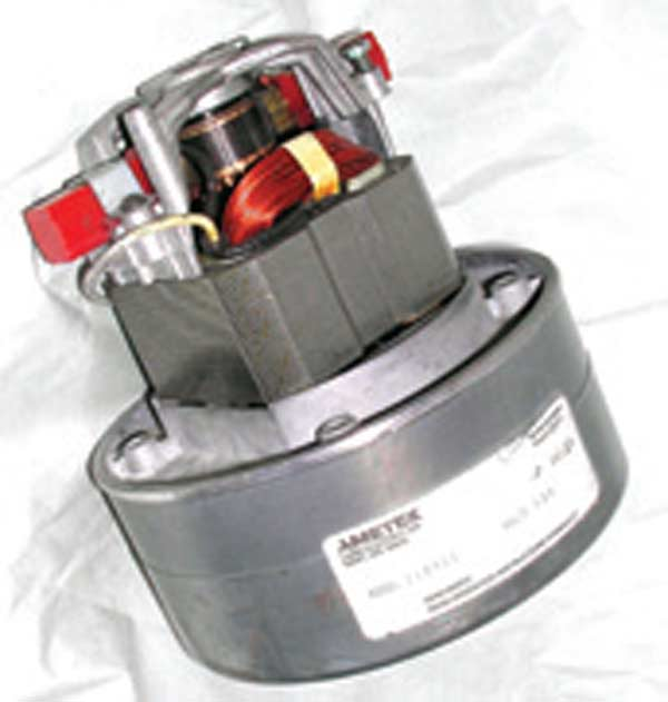 Fig. 3.11. This Ametek motor is the type used in the big Super Flow benches. The Audie unit tested was equipped with two such motors sourced from Grainger at $85 each.