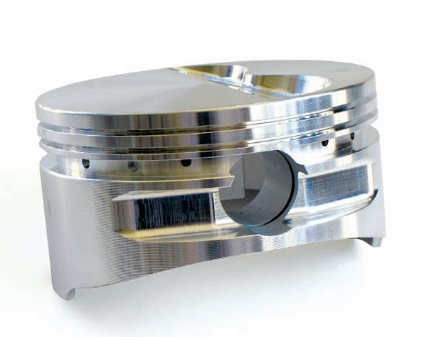 Flat tops are the most common piston configuration. To a degree they simplify compression ratio calculations, but you still have to deal with the valve reliefs. They promote superior combustion with good quench and turbulence properties.