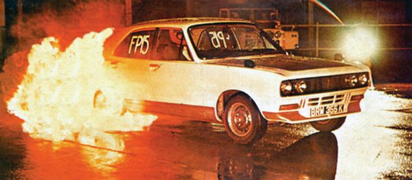 Fig. 11.7. I so often have people tell me what I can't do. In this instance it was win a drag race championship with a Chrysler Avenger. I was also told sedans don't have what it takes to do flame burnouts!