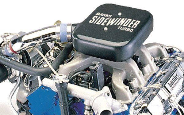Shown is the Banks GM 6.2-liter turbo system intake plenum. The square plenum chamber creates a static pressure head above the manifold that helps with retrofit drivability issues where there are several changes in throttle position as you drive. (Courtesy Gale Banks Engineering)