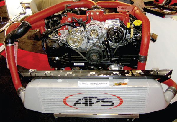 15.Most OEM and aftermarket turbocharger installations include the use of an airair intercooler. For best performance, these are often mounted in front of the radiator to maximize cooling efficiency. It is becoming more common to see these used with centrifugal supercharger installations as well. (Nate Tovey)