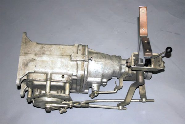 This is the first sequential-style shifter design made for a side-rail-shifted transmission. The driver pulls one lever for upshifts and another for downshifts.