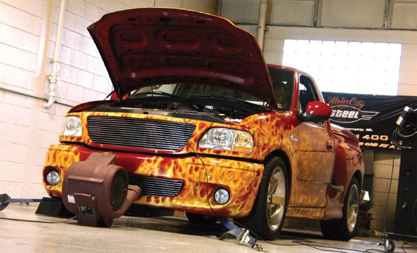 The Ford Lightning is an example of a vehicle that came from the factory with some form of supercharging. The ECU has logic that can accurately calculate engine loads in excess of 100%. (Nate Tovey)