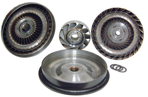 Here's a disassembled view of a competition torque converter. There's a lot of engineering and technology hiding inside them, and the latest offerings from specialists are better than ever. It's now possible to get a converter custom-crafted to meet your exact needs.