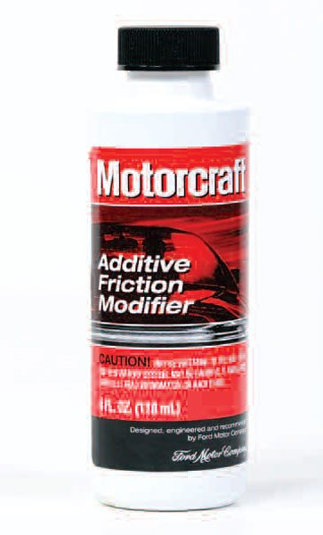 Many people swear by the Blue Oval brand of friction modifier. The modifier is available in 4-ounce bottles from any Ford dealer.