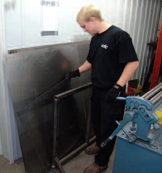 A good stock of sheetmetal, in varied gauges and sizes, is a great asset. This material comes protected by preservative oil to keep it corrosion free. Still, it is best to keep your stock of metal fresh and to store it well so it doesn't corrode.