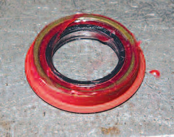 Just as with the wheel end seals, you grease the pinion seal inner lip before installation. This seal also has a lip to make it easier to install. You just need to install it flush with the housing. (Randall Shafer)