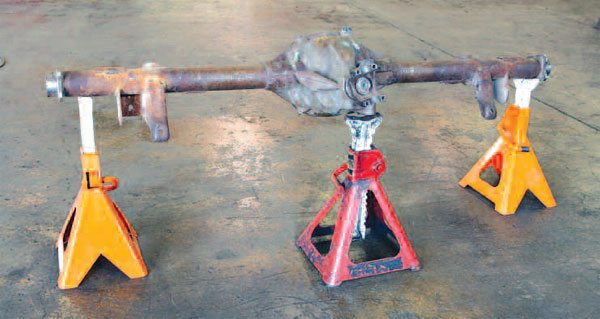 If you are only working on axles once in awhile, you can use jack stands. This is a little trickier and care should be taken because it is easy to knock them over. Nonetheless, this is an excellent way to support an axle that has been removed from the vehicle and is easy on the budget.