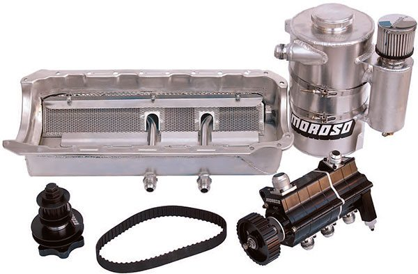 how to build racing engines sumps and oiling moroso dry sump oiling systems incorporate a shallow oil pan multiple pickup points remote