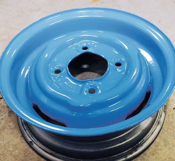 Once again, this project proved that the most important factor for a good powder coating finish is doing a good job on the prep work. This wheel will carry that shiny blue coating for decades, and look just as good as it did when I took it out of the oven.