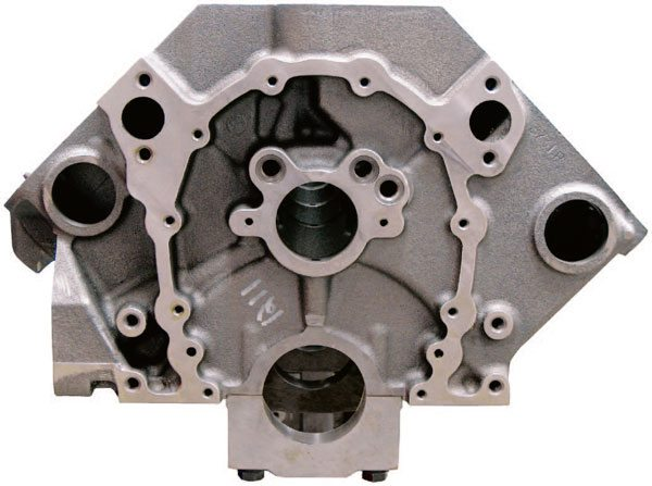 The camshaft and crankshaft centerline must be parallel with each other and the cam must not be skewed left or right from the crankshaft axis. Some race blocks have the cam height raised to provide more clearance for large stroker cranks and to allow for larger base circle cams, which add the cam rigidity needed for higher valvespring pressures.