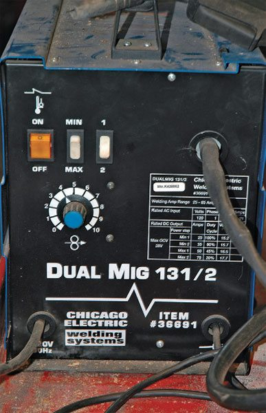 This basic 120-volt welder is available at Harbor Freight tools. It is the only arc welder I keep in the shop and it works great for light- to medium-duty tasks. For anything complicated, I borrow a professional MIG welder from a friend.