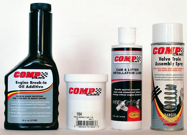 Proper assembly lubrication is essen¬tial to prevent engine damage upon initial engine startup. This includes assem¬bly lube, cam and lifter lube, engine oil break-in supple¬ment, and valvetrain assembly spray, among others.