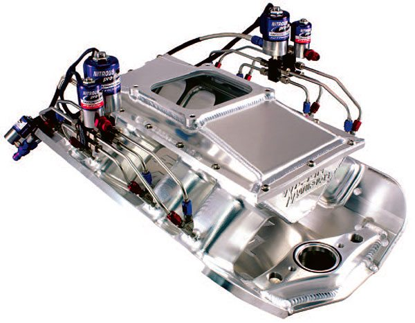 Nitrous oxide systems do not typically complicate a well-built induction system. When the manifold is already correct for the application, a properly plumbed and tuned nitrous system delivers con¬sistent and equal cylinder-to-cylinder performance gains.