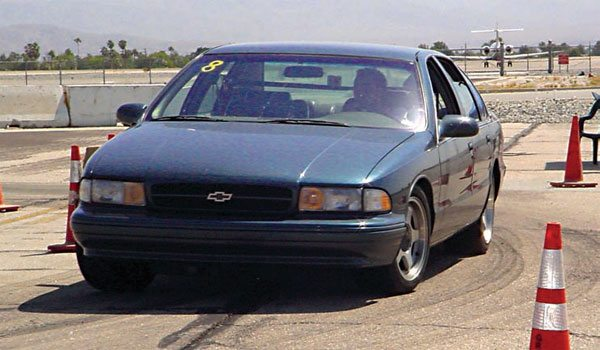 Few people realize that the GM B-body from 1978 to 1996 shared the same suspension with 1973 to 1977 A-bodies. It's actually a good-performance platform, in spite of its size and weight. Tad Banzuelo's 4,200-pound 1995 Impala SS has garnered him a pile of autocross trophies running against late-model Corvettes, BMWs, and the like. A cool 1973 to 1977 A-body (like a Laguna S-3 or 1977 Pontiac CanAm) should do just as well. (Photo Courtesy Tad Banzuelo)