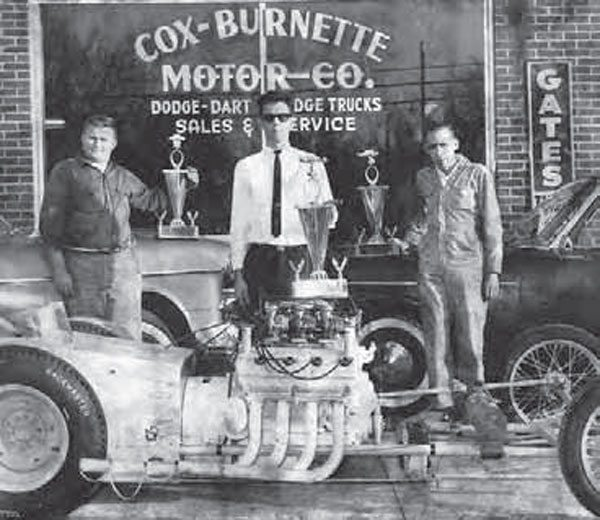 There was generally no option when it came to the budget of your build. Drag racers didn't purposefully build a low-budget car—it just happened. This dragster is a home-built piece. The fellow in the sunglasses is Jim Smith of Dayton, Tennessee. He built, tuned, and drove the Hemi-powered rail.