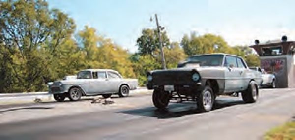 Your eyes aren't fooling you—the starting line at Paradise Drag Strip is not level. In fact, any manual-transmission cars without a line-lock rolls out of the beams if the driver isn't paying attention. Paradise is still in good working order, and holds several nostalgia drag events each year.