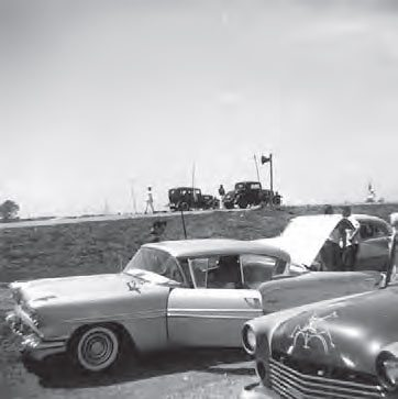Oswego Dragway opened in 1955 as one of the first purpose-built drag strips in the country. Most were built from an abandoned airport runway, but Oswego was built from scratch by Dan and Wally Smith. The brothers had inherited the farmland property from their parents. (Photo Courtesy Norbert Locke)