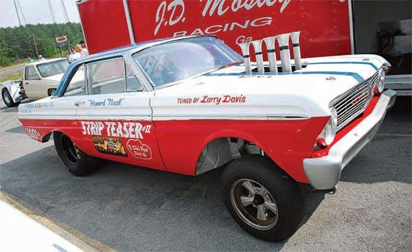 """As gassers, altereds, and super stockers evolved, a new class was born—A/FX (Altered Factory Experimental). This class was packed with mid-size sedans, most of which featured a wildly altered wheelbase, which created the nickname """"funny car."""" These cars were crowd pleasers with wild passes and entertaining starting-line antics."""