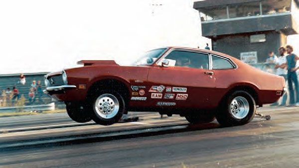 Another typical Midwest doorslammer, this Ford Maverick puts the racing surface to the ultimate test. Motion Raceway opened in 1970, putting it a bit later in the game than some tracks, but that didn't stop it from being a popular track for folks in central Illinois. (Photo Courtesy Steve Jackson)