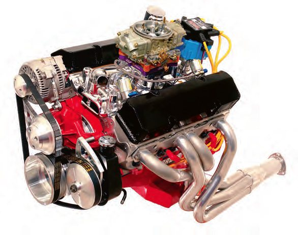 . A power-producing element is very obvious on this 580-hp Chevy 355. However, the fact that it contributes to output is far from obvious. If you have not guessed, it is the polished exterior surface on the intake manifold.