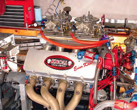In 2008, I sat in on the testing of this 500-ci ProStock engine with Dick Maskin of Dart Machine. The task for the day was to see if there was any additional power to be had from some fine tuning of an already finely tuned carburetion system. We started with an output at the low 1,400-hp mark. By the end of the day (some 50 pulls later) an additional 15 hp had been found. It is this attention to detail that wins races.