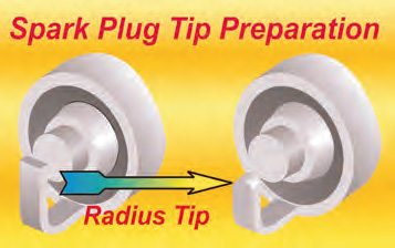 A serious high-performance engine should use this form of plug tip. It reduces the heat in the electrode and provides a better spark path for cleaner ignition.