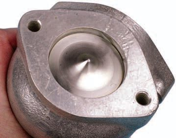A turbocharger wastegate has a valve that remains closed when the boost pressure runs at a predetermined level.