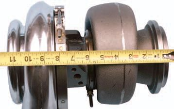 Once the appropriate-size turbocharger has been selected, measure overall width to help determine where the unit may be located in the vehicle.