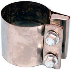 20.Where you're faced with two pipes or a pipe-to-muffler connection where both ODs are the same, a butt-joint connection can be achieved by using a band clamp with the same ID from end to end. Band clamps are available in a variety of diameters.