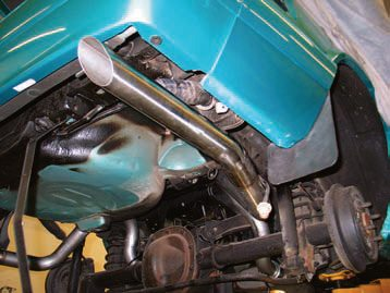 21.Rear-exiting tailpipes and/or tips must extend beyond the rear body fascia. If they don't, exhaust fumes can easily roll under the body, migrate through the trunk or hatch area, and enter the passenger area.