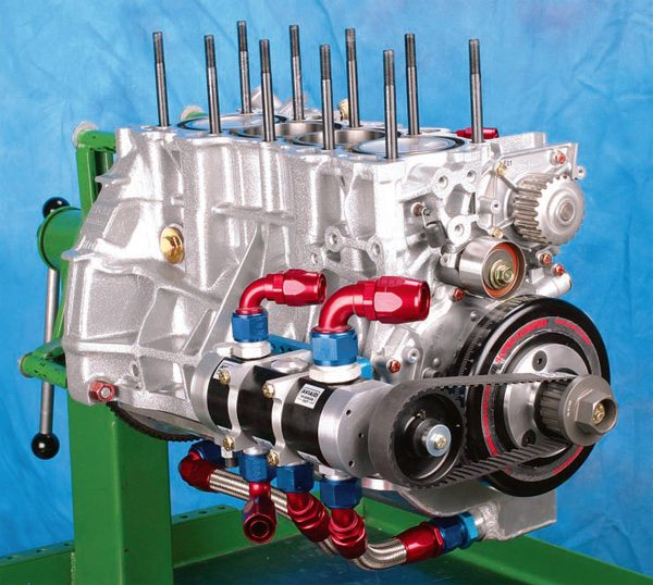If high cylinder pressures are obtained (through forced-induction and/or nitrous injection), serious consideration should be given to upgrading critical components, such as using forged pistons, piston rings that are designed for forced-induction, forged connecting rods, and a forged crankshaft.