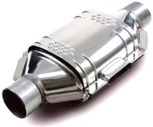 Performance catalytic converters are available as direct-replacement fits for OEM systems. The example shown here is Eastern's Tru Performance converter. (Photo Courtesy Eastern Catalytic)