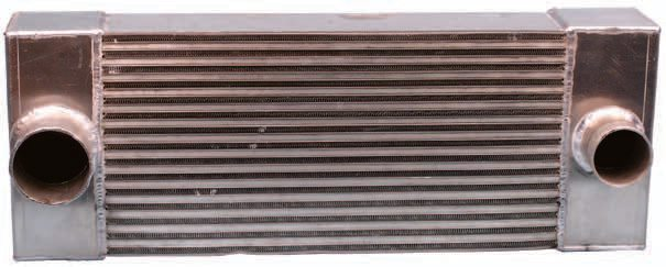 An intercooler accepts the compressed air generated by the turbocharger and lowers the intake air-charge temperature before it reaches the engine's intake. A cooler, denser charge promotes engine efficiency and power. As far as intercooler size is concerned, you should choose the largest intercooler that can be fitted to the vehicle.