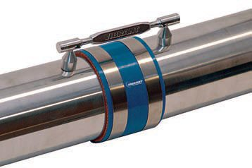 To prevent possible disconnection of a joining sleeve between air-charge pipes on a turbocharged system, a fail-safe mechanical system should be installed. Shown here is Vibratech's Boost Brace that features two ball-tipped stands, which are welded to the pipes. Attaching the two stands is a quick-release brace. An alternative is to weld tabs to each pipe and connect the tabs with a long bolt and locking nut. Regardless of design, whenever air-charge tubes are connected with silicone sleeves, a back-up mechanical securing system is a good idea to prevent the pipes from slipping out of the sleeves under boost, especially if the turbo system is expected to produce serious boost pressure. (Photo Courtesy Vibratech)