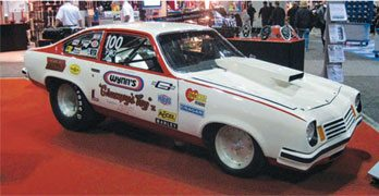 Grumpy's Toy XI has its place in drag racing history. It played a key role in the evolution of Pro Stock, having introduced many key components that are still in use. Today, the restored Vega has proven to be too valuable to race. It now only makes special appearances. (Photo Courtesy Scott Hoerr)