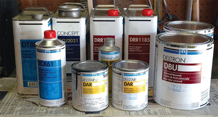 Automotive painting guide what products to use for 1 gallon clear plastic paint cans