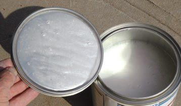 "Looking at what's in the can is much more fun than looking at the outside. This is white pearl, which gave the paint its name. In the old days you made it by mixing powder in clear lacquer. Today you can get it pre-mixed in a variety of translucent hues (besides white). A 3-stage paint, this dull-drying ""base coat"" must be sprayed over a similar, but solid, base color, then top coated with glossy clear, which can be rubbed out or left as is."