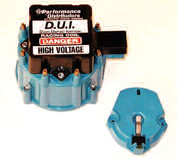 The distributor cap discharge points and the rotor are subject to spark erosion. Install new parts when any significant erosion is seen.