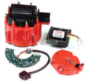 My own tests show that MSD's highperformance electronic module and coil kit for the GM HEI distributor has an 11,000-rpm capability!