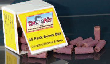 Most cartridge rolls are supplied in boxes of 100, which is okay for a pro shop but is a little pricey for the home porter. These Dr. Air 50-count boxes are much more wallet friendly.