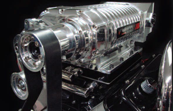 At first glance, a Whipple supercharger bears much resemblance to the classic Roots-style supercharger. A check of the interior workings might also support this; the rotors resemble those of a Roots supercharger but with a very high helix angle. The reality is that it belongs to a class of compressor known as a screw compressor. This has a male and female rotor, and the way they intermesh produces a far more efficient means of moving and compressing the air that is drawn in.