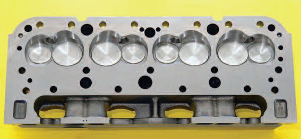 Thirty hours of basic porting on this small-block Chevy EQ head produced very positive results. The flow produced was sufficient to top 600 hp on a 383-ci engine with a 12:1 CR.