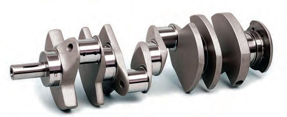 Forged crankshafts are significantly stronger than cast crankshafts. Grain structure is more uniform and dense, making a forging much less prone to embittlement and cracking.