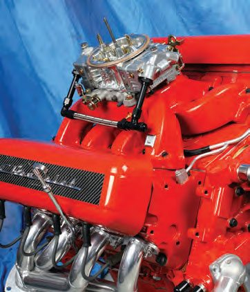 Using the Edelbrock dual-plane intake and a 650-cfm Holley (and a mild-cam change), we simply overbored this 5.3-liter LS iron-block to 327 ci and hit 450 hp. The manifold provided snappy throttle response and favored bottom-end and mid-range power.