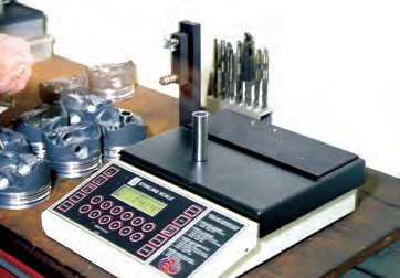 Each piston pin is weighed and recorded. Sets of pins generally weigh the same. However, if any small deviations are present, you may be able to mix or match lighter or heavier pins to pistons to create a piston/pin combination that provides a matching-weight set. This could reduce or eliminate any need to remove weight from pistons.
