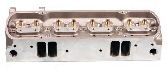 Small-block Ford intake ports. Matching ports to gaskets and heads is critical because of the close proximity of the pairs of ports.