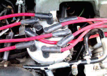 Just because plug leads look new, does not mean they are functioning okay. Burning at the plug boots can be a big problem.