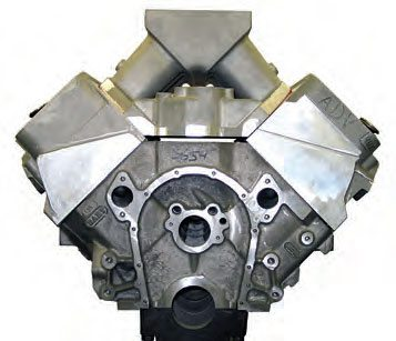 If the manifold is designed for a tall-deck aftermarket block, there may be a gap at the front and rear manifold rails. In this case, a manifold rail spacer kit is available to fill this gap.